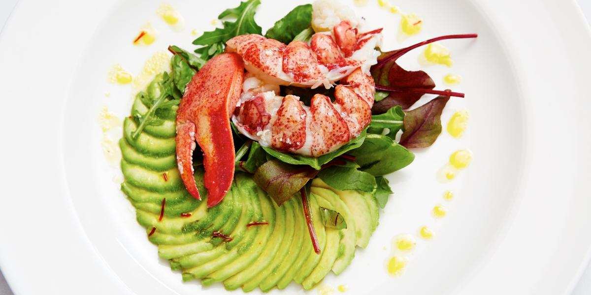 Vibrant Lobster Salad at Frescobaldi London