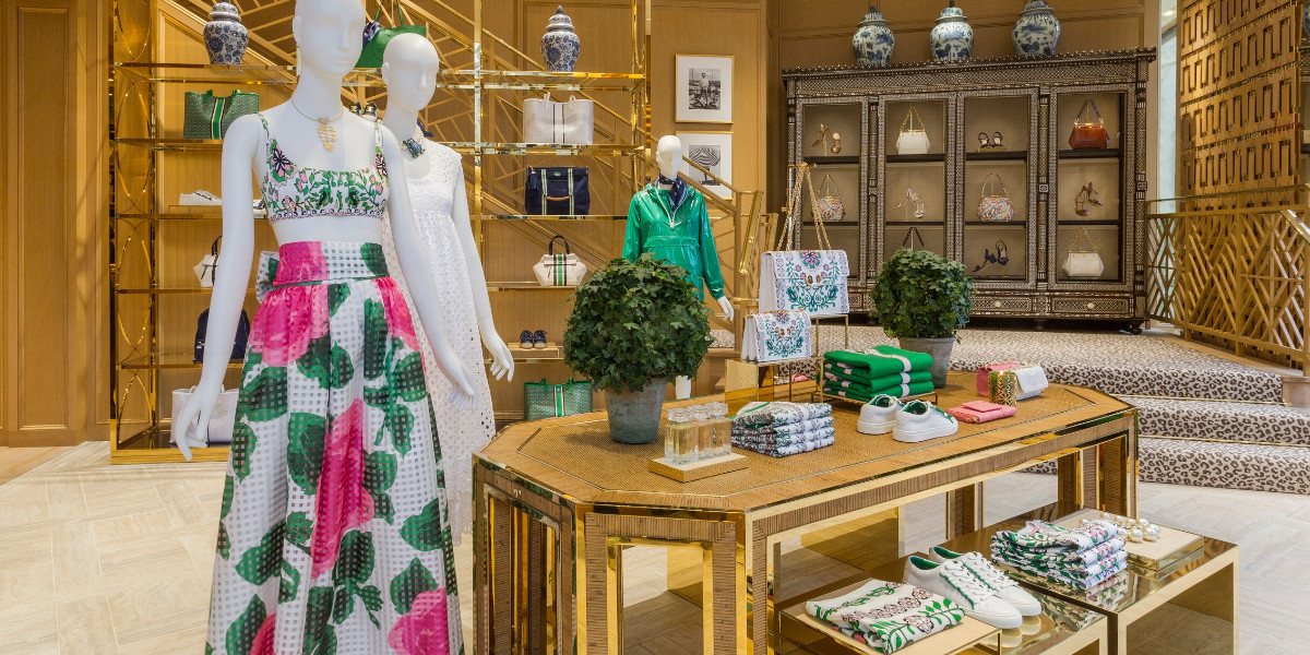 Tory Burch interiors at the new store on Regent Street London