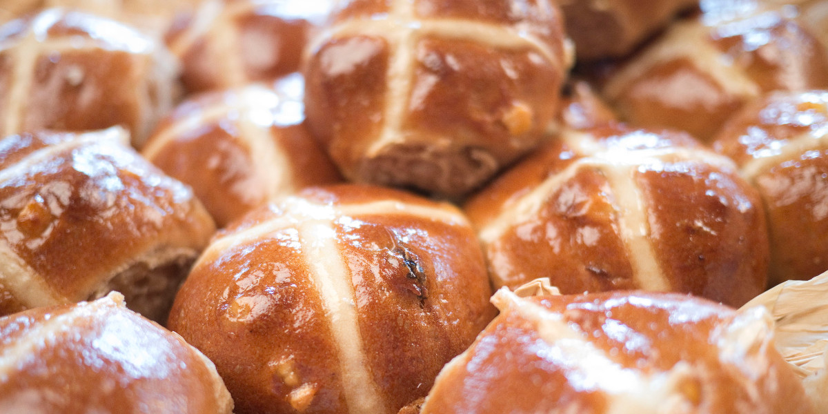 Hot cross buns from Hotel Cafe Royal on Regent Street London