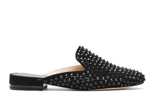 STUDDED LEATHER SLIDERS, MICHAEL BY MICHAEL KORS - £155.00