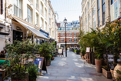Dining on Heddon Street