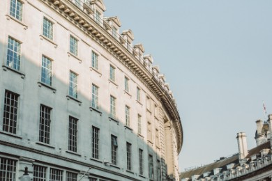 Photography of Regent Street from Piccadilly Circus