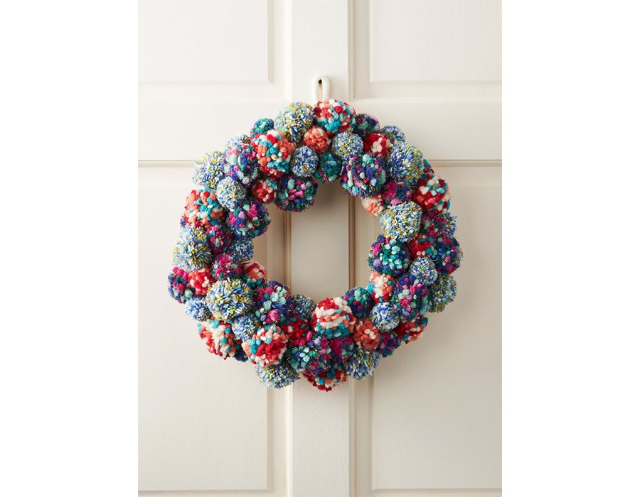 Anthropologie: Merry Making Pom Pom Wreath, £116