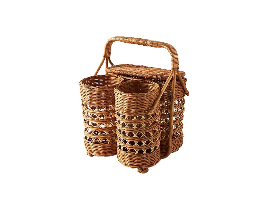Anthropologie, Rattan Wine & Bread Basket