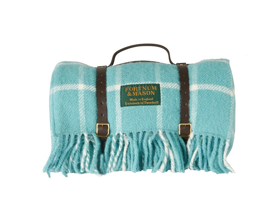 Fortnum & Mason's, Polo Picnic Rug, Light Blue